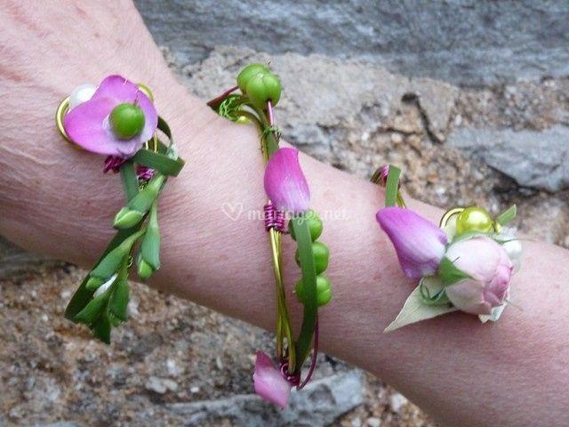 Bracelet de fleurs