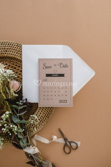 """Save-the-date """"Pictogrammes"""""""