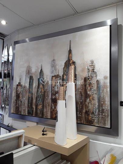 Peinture acrylique rajout métalique