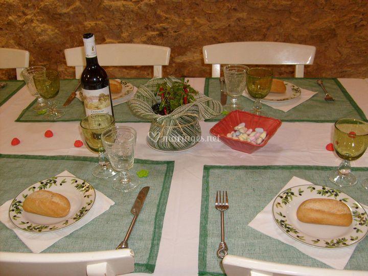 Table bapteme