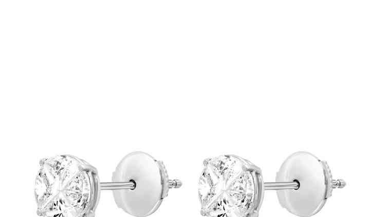 Boucles d'oreilles or, diamant
