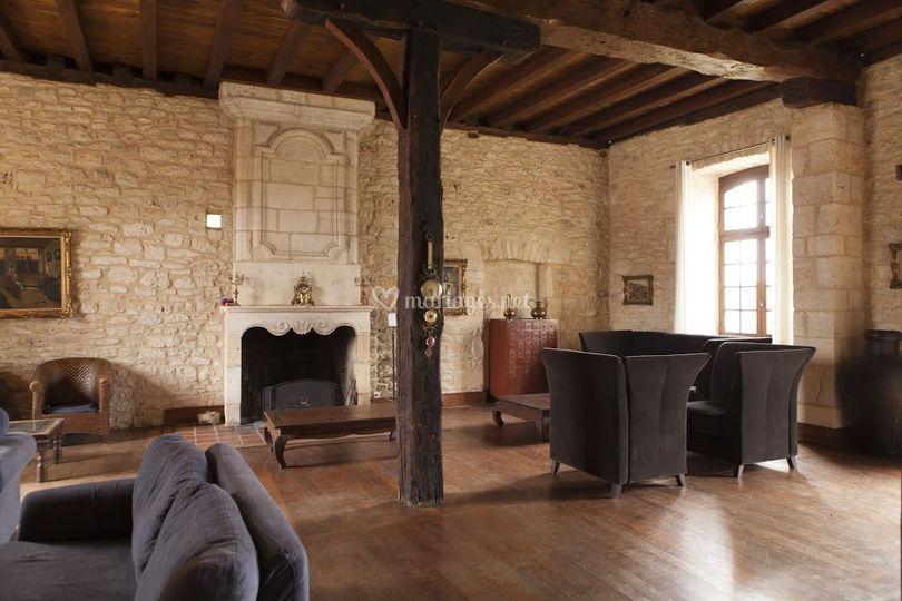 Salon dans le château