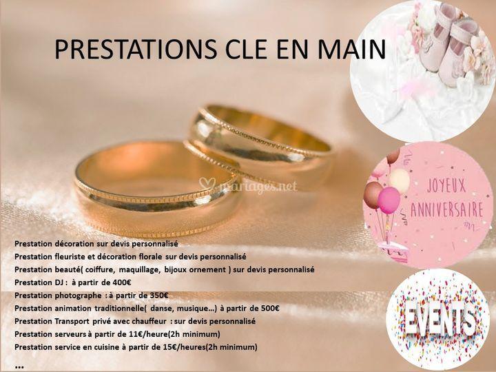 PRESTATIONS