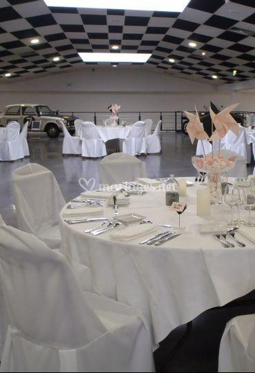 Réception mariage en mezzanine