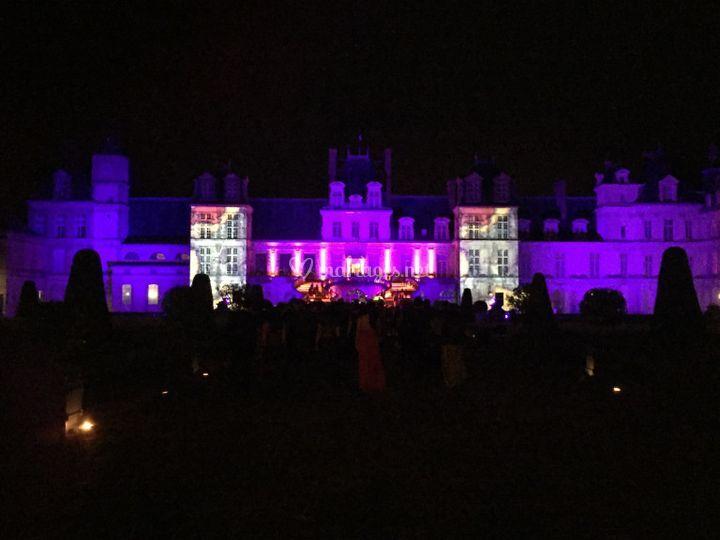 Projection vidéo chateau