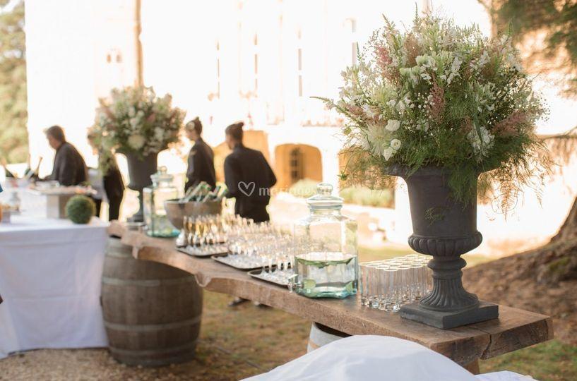 Le cocktail en extérieur