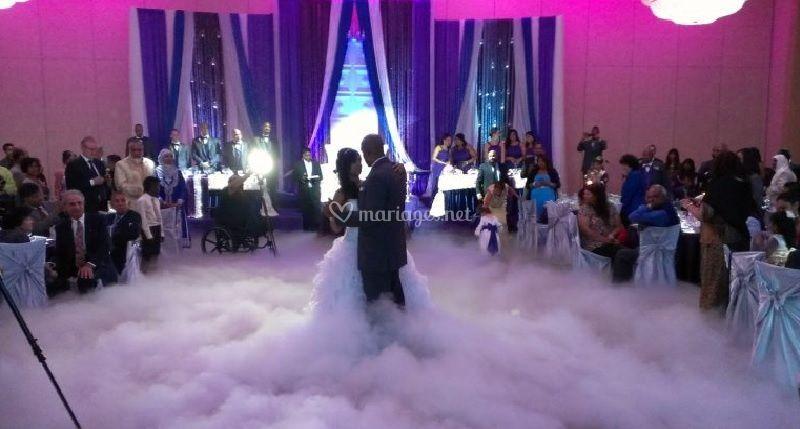 Mariés fumée lourde