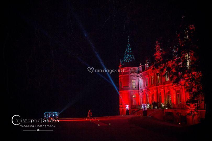 Château éclairé