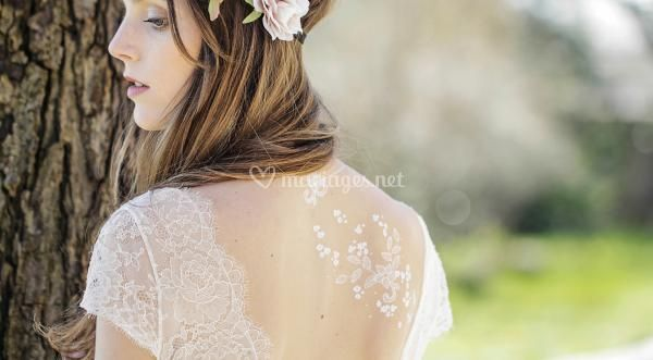 Parure de tattoos mariage