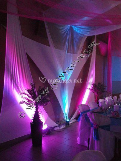 Location décor, tenture, lumière
