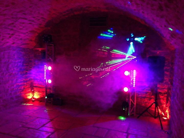 Lumières leds + lasers