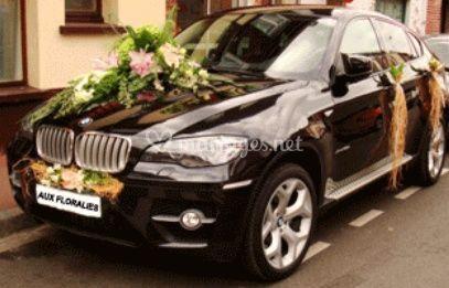 Décoration pour voiture des mariées