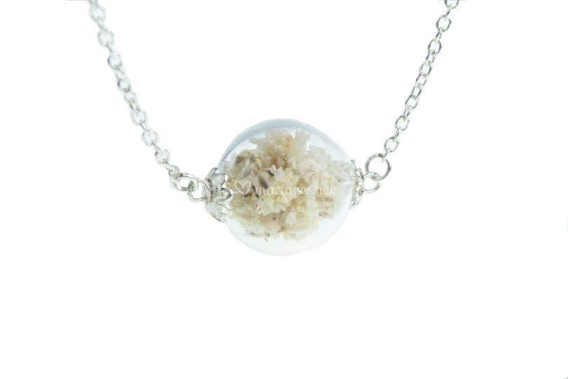 Collier Argent 925, Gypsophile