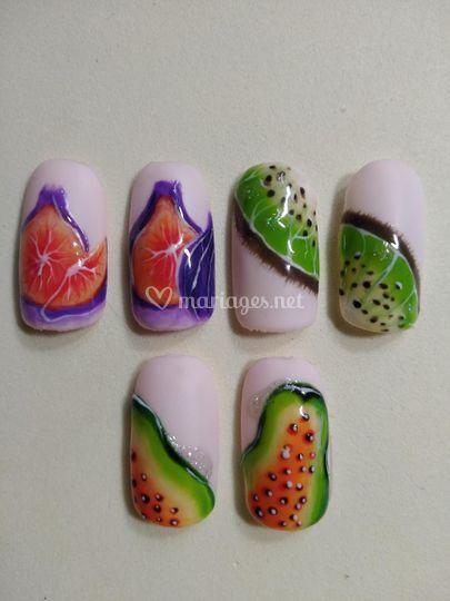 Nail Art création. Fruits
