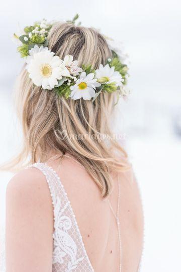 Jolie couronne de fleurs