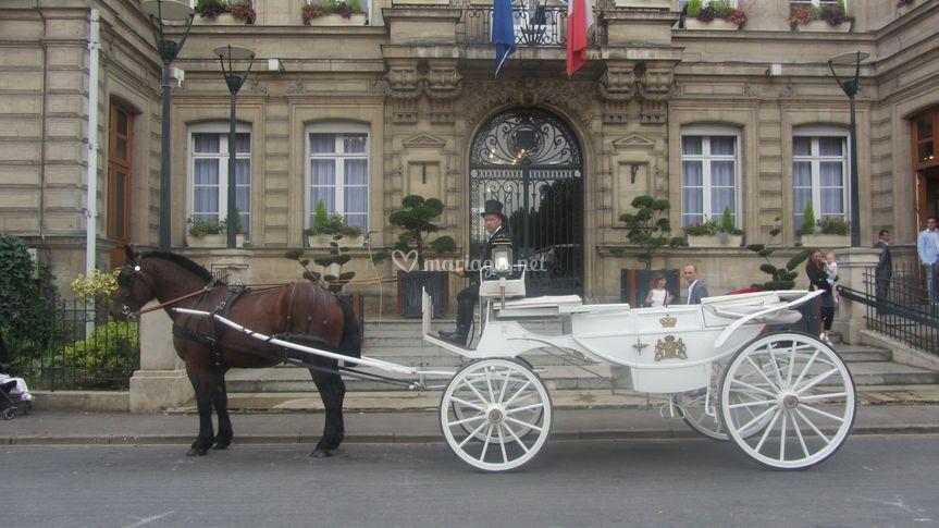 mariage avec le carrosse - Location Carrosse Mariage