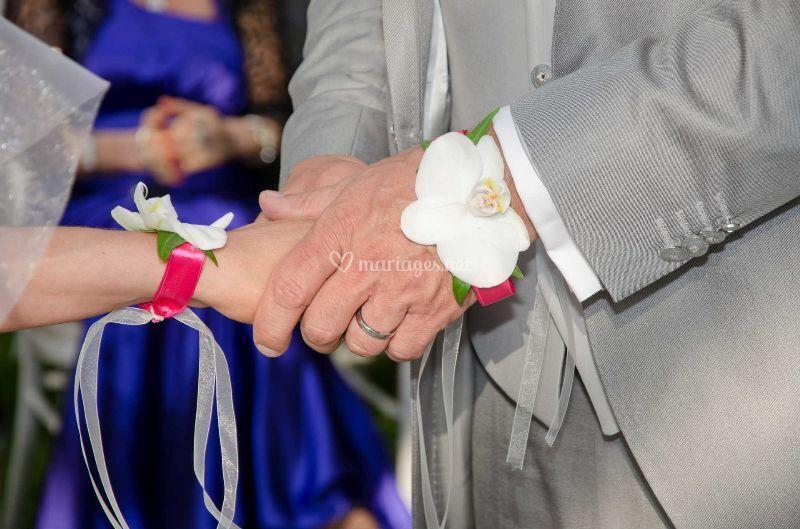 Bracelets d'orchidée