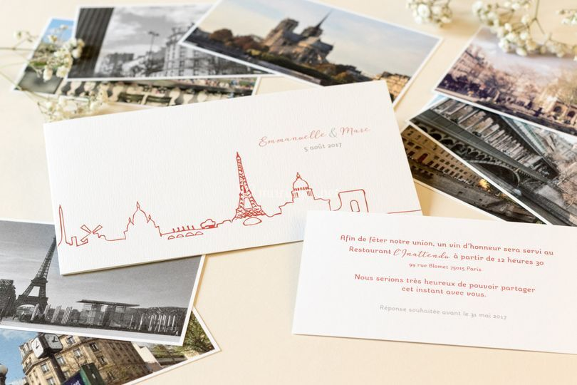 Faire-part Mariage paris photo