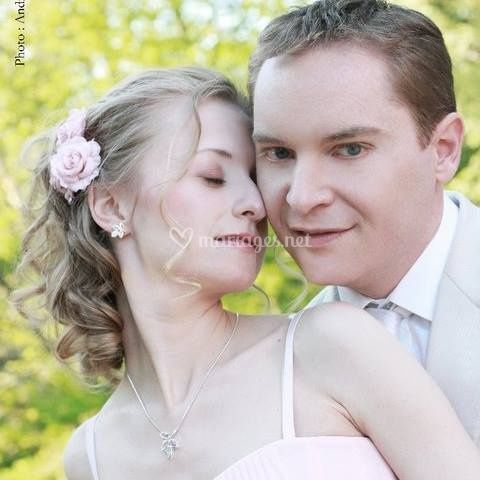 Maquillage mariée romantique