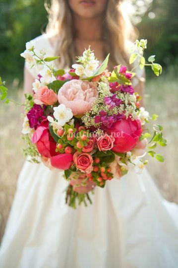 Bouquet champêtre & chic