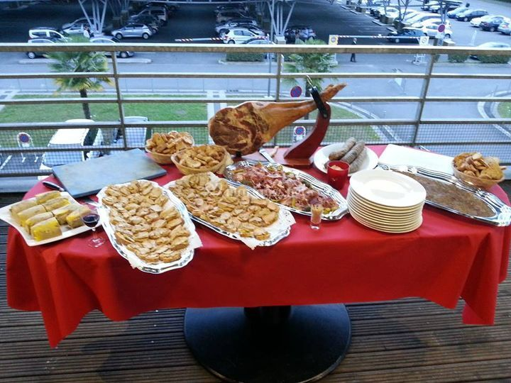 Buffet de réception
