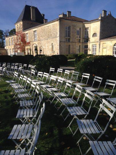 Chaises sur site en location