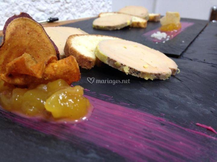 Ardoise de foie gras