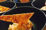 Tartare  saumon tuile agrumes