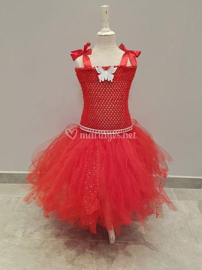Robe tutu rouge st valentin