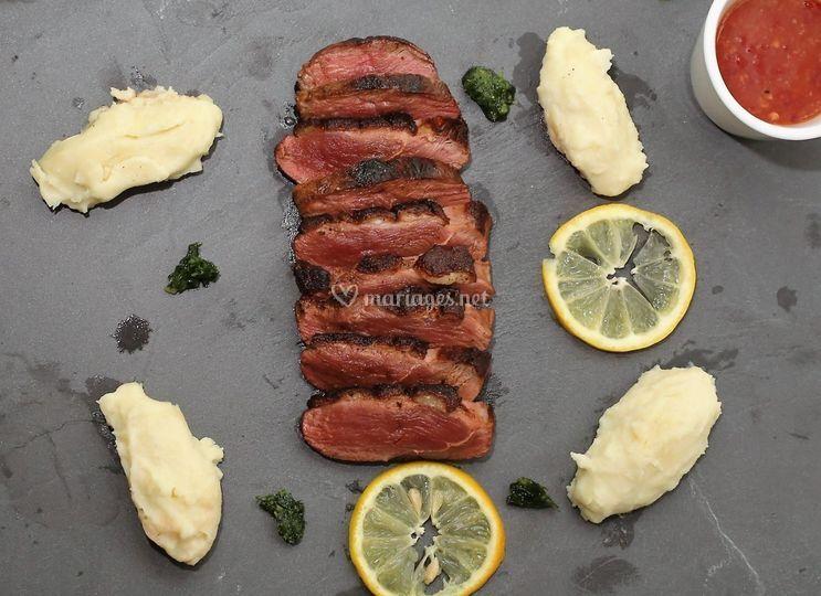 Magret quenelle de patate