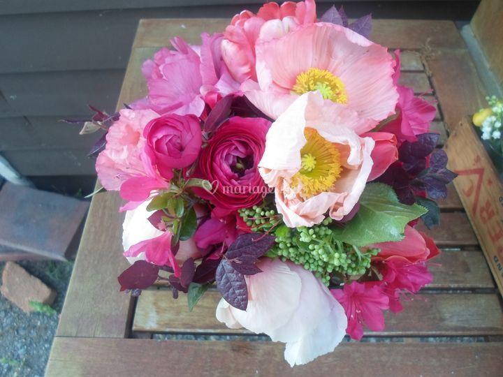 Bouquets de mariée rose fushia