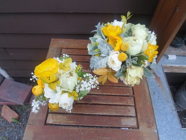 Bouquets de mariée  jaune