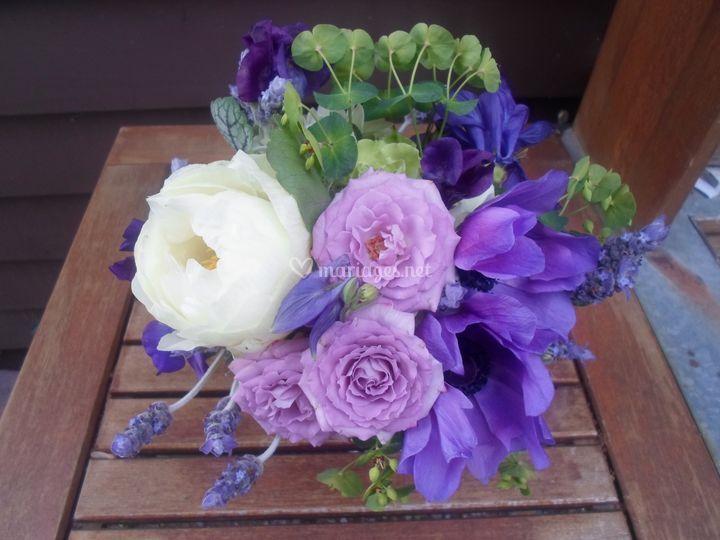 Bouquets de mariée  ton violet
