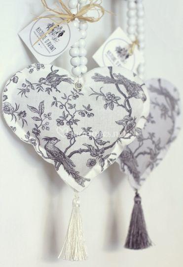 Cœurs de lavande perroquet