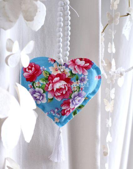 Cœur de lavande et son collier