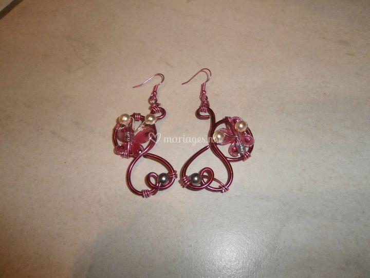 Boucles d'oreille de mariée