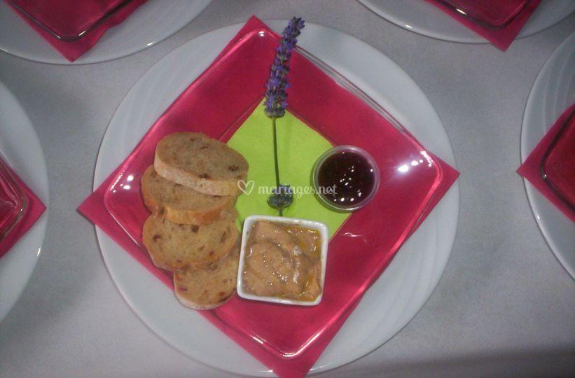 Assiette de foie gras