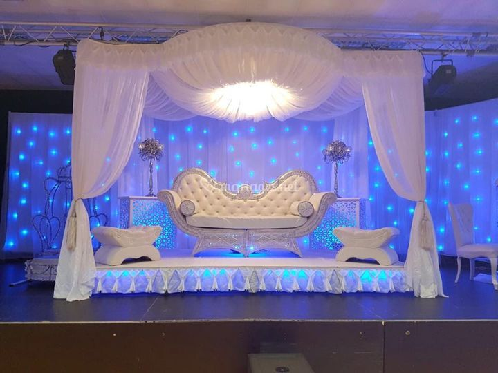 Fauteuil mariage baroque