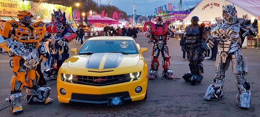 Mascottes robots Transformers