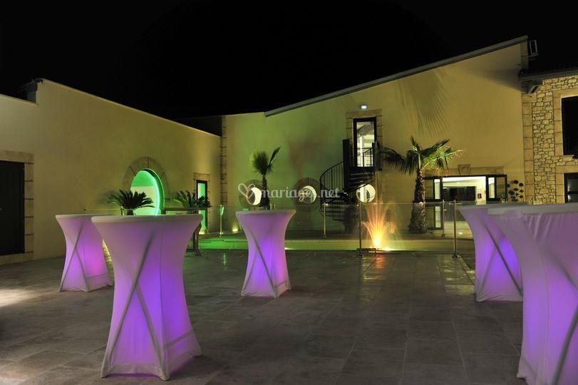 illumination du patio