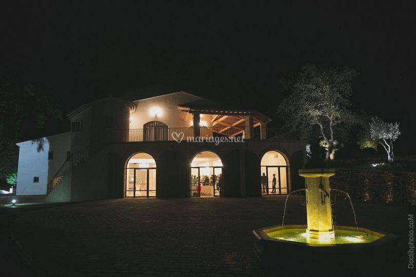 Salle vue de nuit