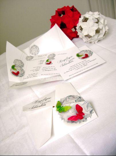 A&S Faire-part origami