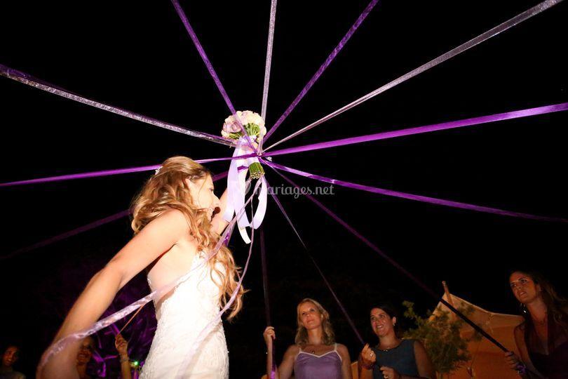Animation bouquet de la mariée