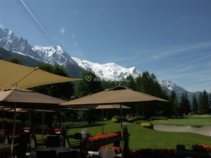 Panorama incroyable sur les montagnes