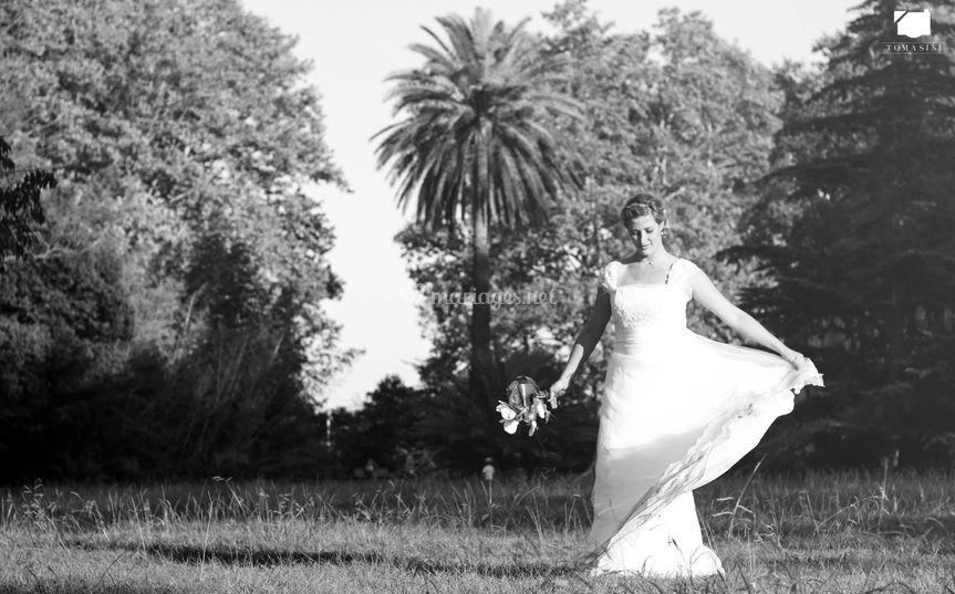 Et la mariée tourne de joie