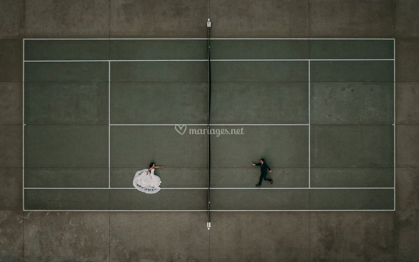 Photo mariage au drone