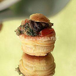 Feuilleté d'escargot aux cèpes