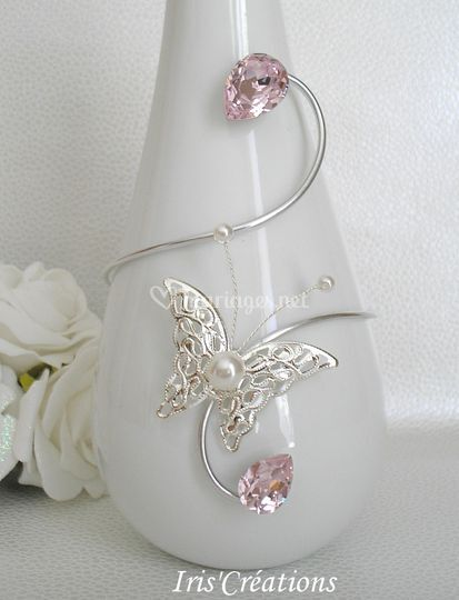 Bracelet Espéria argenté rose