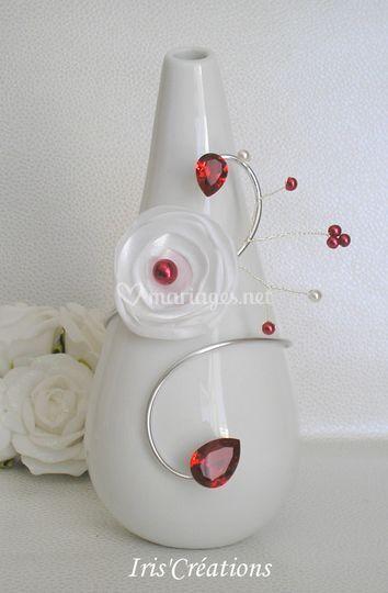 Bracelet Calinka blanc rouge