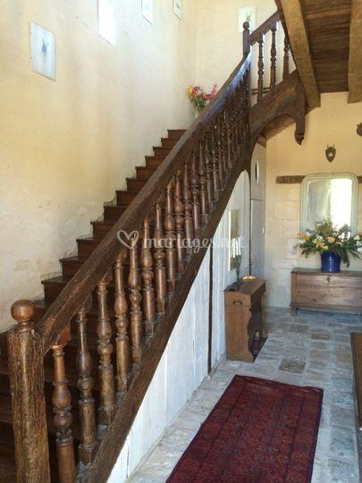 Escalier du g te de l abbaye de la gr ce dieu photo 8 for Piscine grace de dieu